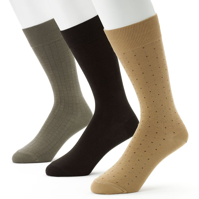 Men's Jockey 3-pk. Staycool 360 Stretch Patterned Dress Socks