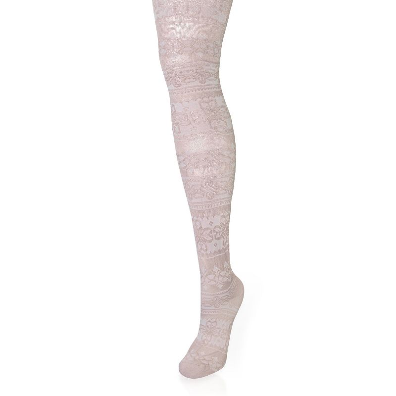 MUK LUKS Patterned Microfiber Tights