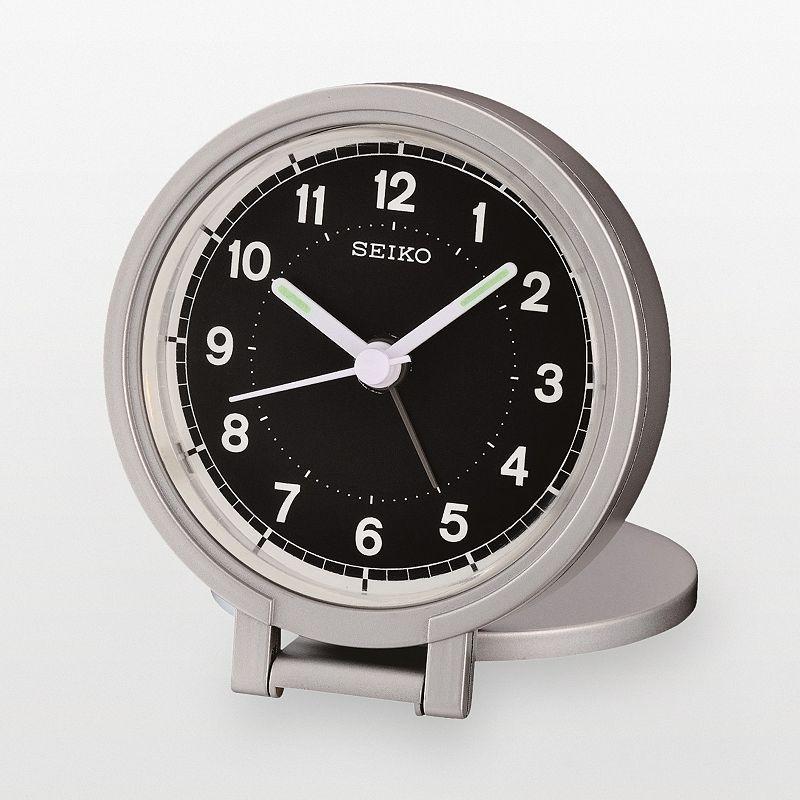 Seiko Silver Tone Travel Alarm Clock - QHT011ALH