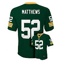 Boys 4-7 Green Bay Packers Clay Matthews NFL Replica Jersey
