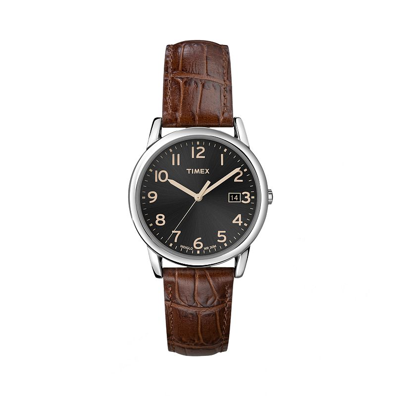 Timex Men's Leather Watch - T2N948KZ