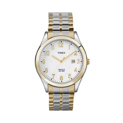 Timex Two Tone Stainless Steel Expansion Watch - T2N851KZ - Men