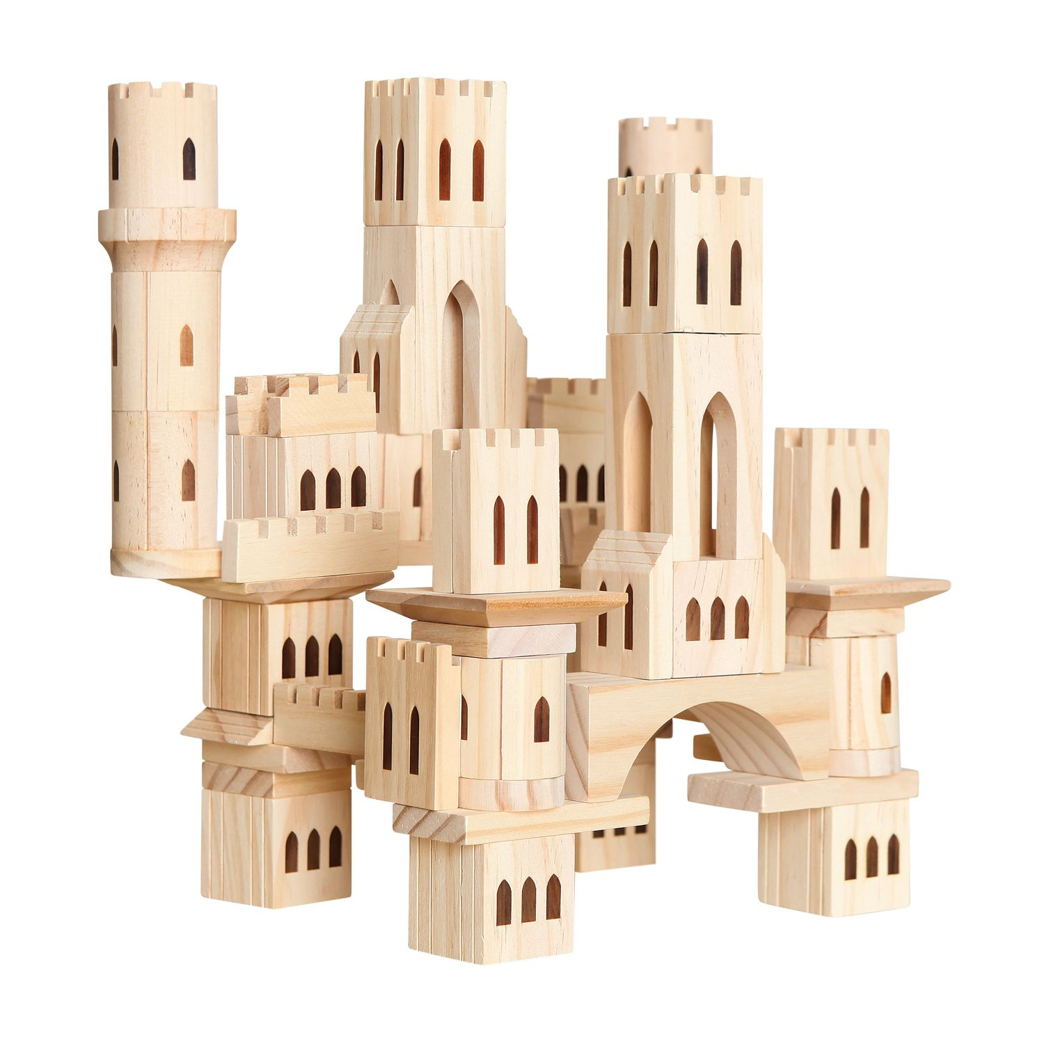 Discovery Kids Wooden Castle 69-Piece