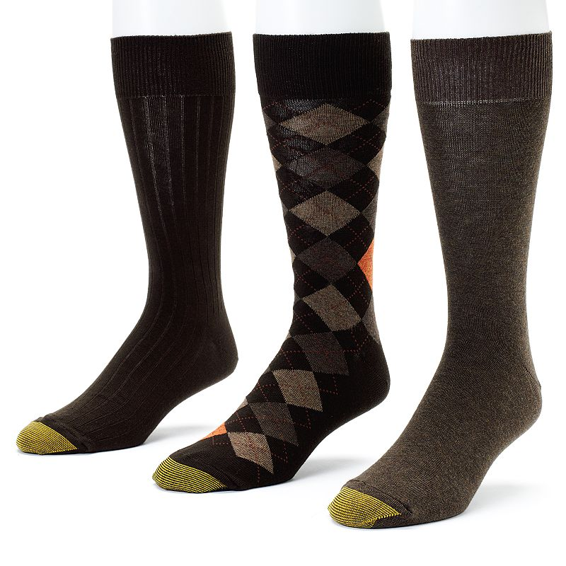 Men's GOLDTOE 3-pk. Double-Argyle Dress Socks