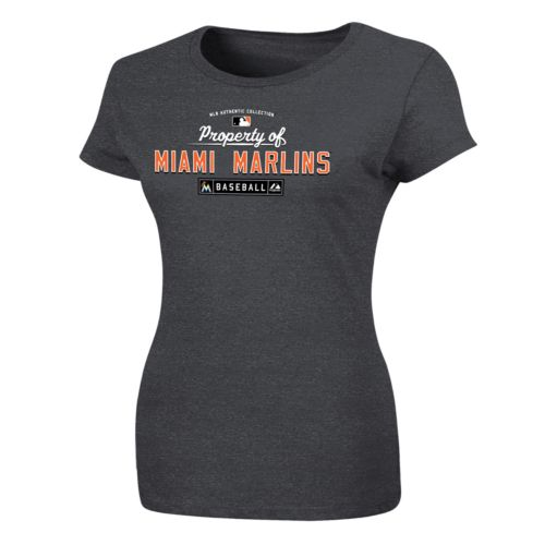 Plus Size Majestic Miami Marlins Property of Tee