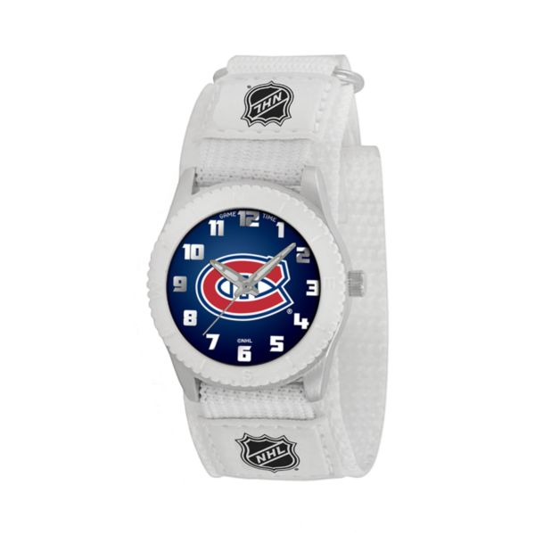 Game Time Rookie Series Montreal Canadiens Silver Tone Watch - NHL-ROW-MON - Kids