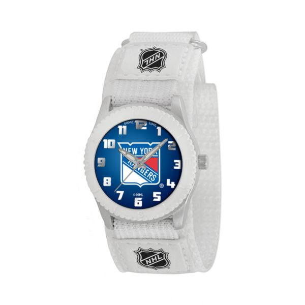 Game Time Rookie Series New York Rangers Silver Tone Watch - NHL-ROW-NYR - Kids