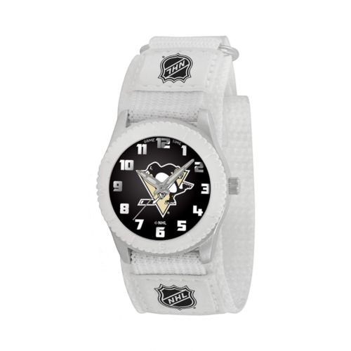 Game Time Rookie Series Pittsburgh Penguins Silver Tone Watch - NHL-ROW-PIT - Kids