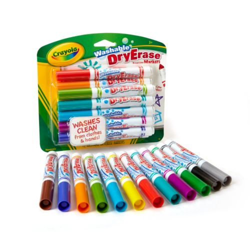 Crayola 12-pk. Washable Dry-Erase Markers