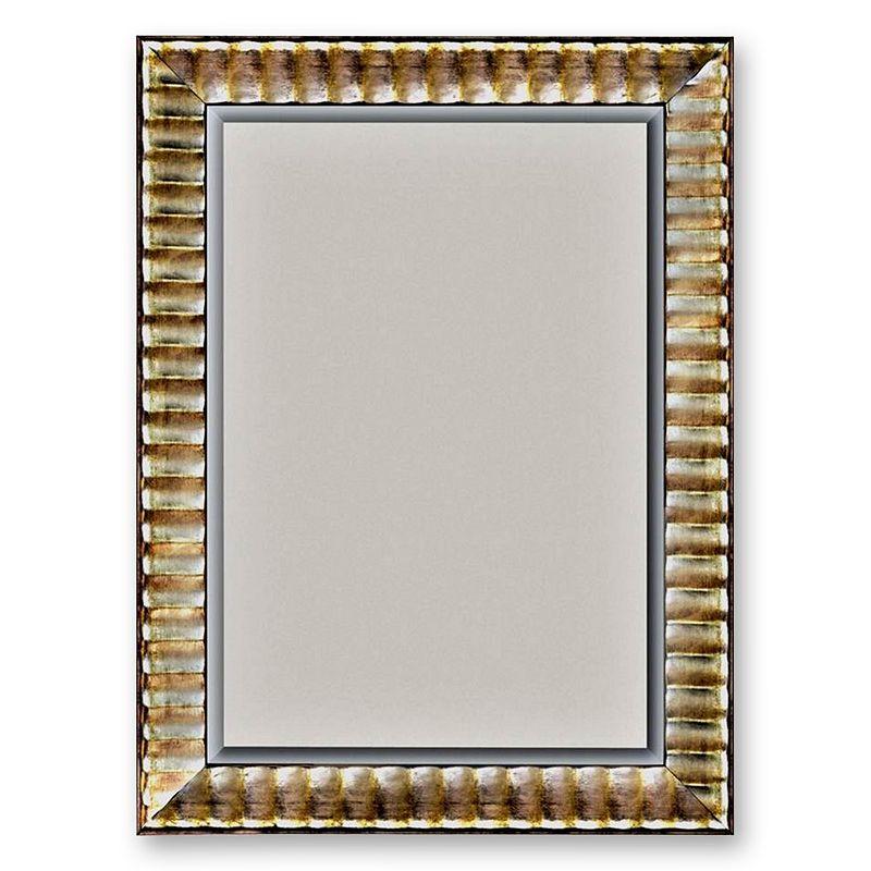 Alpine Silver-Tone Rivauge Wall Mirror