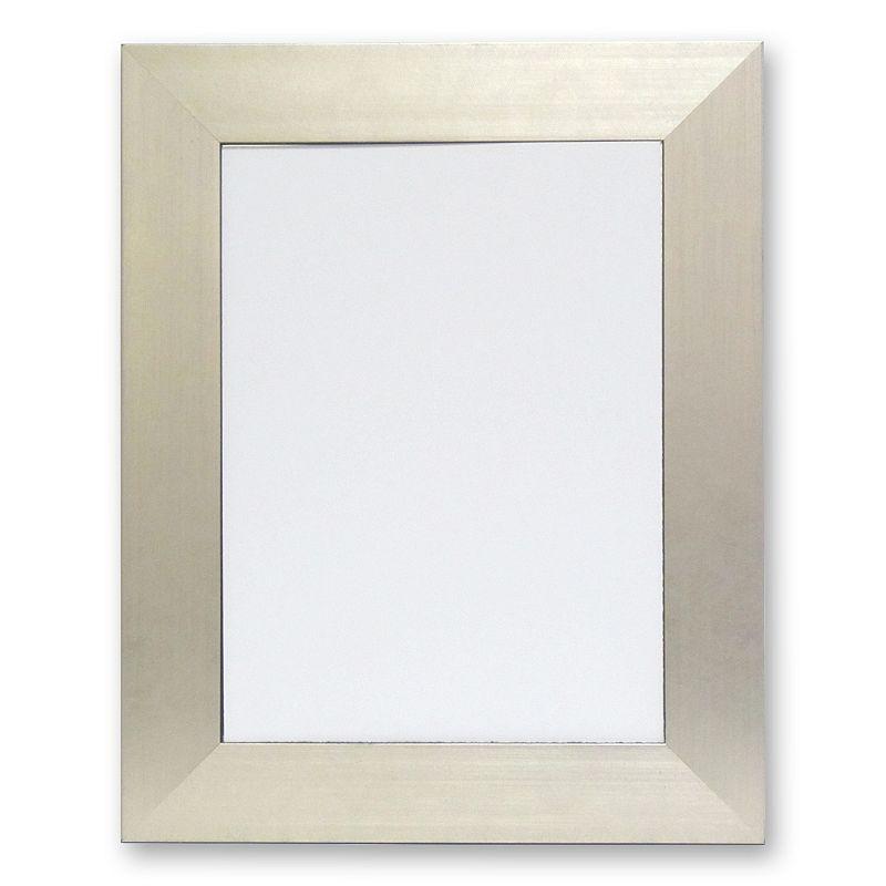 Alpine Silvertone Beveled Wall Mirror