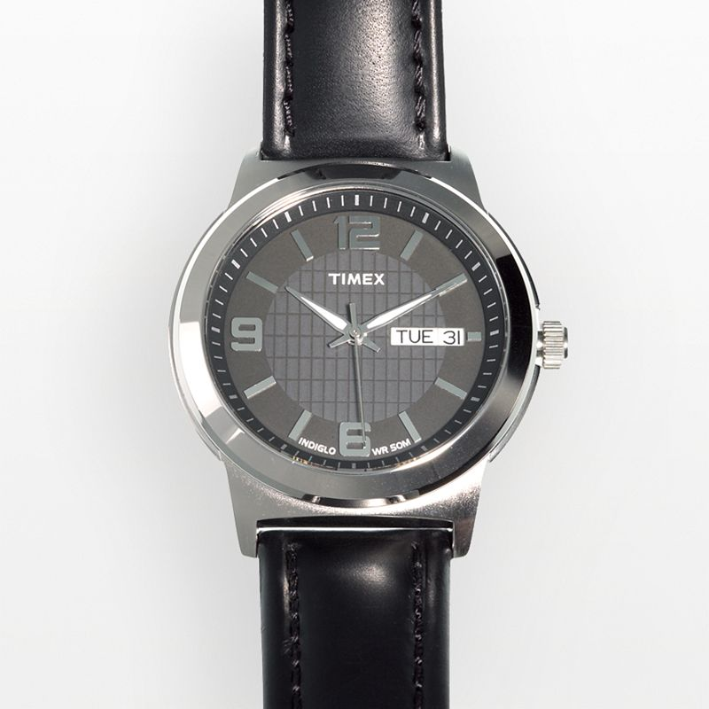 Timex Men's Leather Watch - T2E561