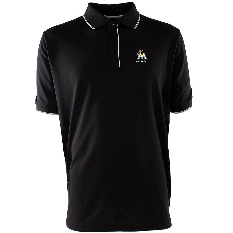 Men's Miami Marlins Elite Desert Dry Xtra-Lite Pique Polo