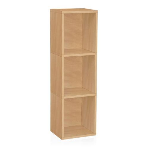 Way Basics Modular Plus 3-Shelf Bookcase