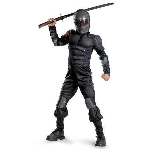 G.I. Joe Retaliation Snake Eyes Classic Muscle Chest Costume - Kids