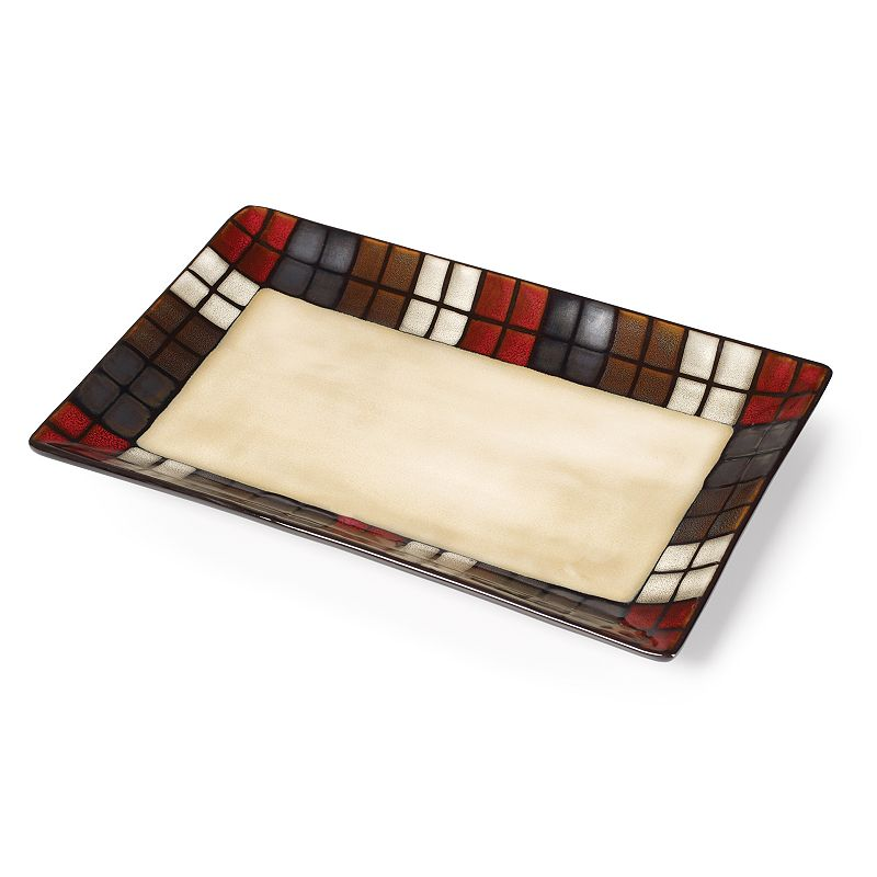 Pfaltzgraff Everyday Calico 14'' x 9'' Platter