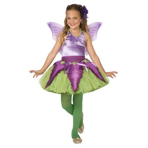 Purple Flower Fairy Costume - Kids