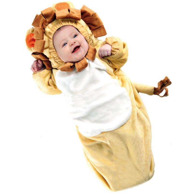 Lion Bunting Costume - Baby (Beige/Khaki)