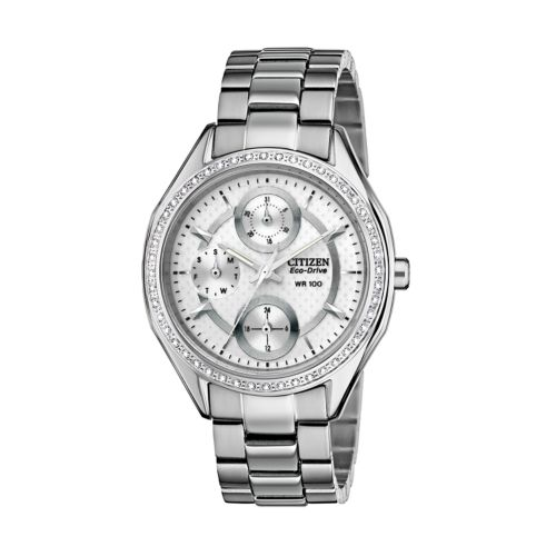 Drive from Citizen Eco-Drive Stainless Steel Crystal Watch - Made with Swarovski Elements - FD1060-55A - Women