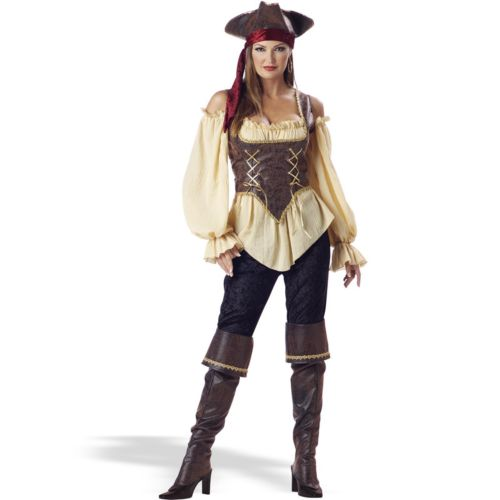 Rustic Pirate Lady Costume - Adult