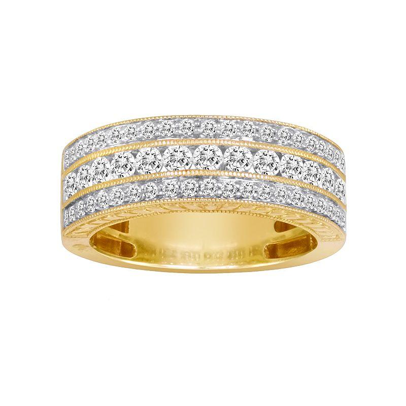 14k Gold 1 Ct TW IGL Certified Diamond Wedding Ring