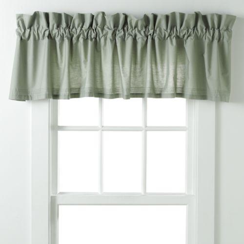 Laura Ashley Lifestyles Avery Pleated Window Valance - 86'' x 15''
