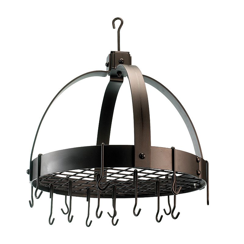 Old Dutch Oiled Bronze Hanging Dome Pot Rack