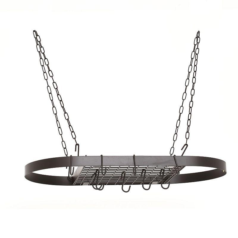 Old Dutch Matte Black Hanging Oval Pot Rack