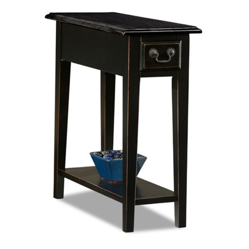 Leick Furniture Chairside Table, Black thumbnail