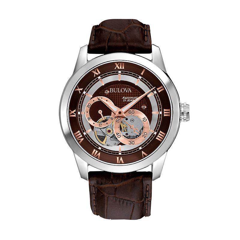 Bulova mens crystal watch kohl 39 s for Watches kohls