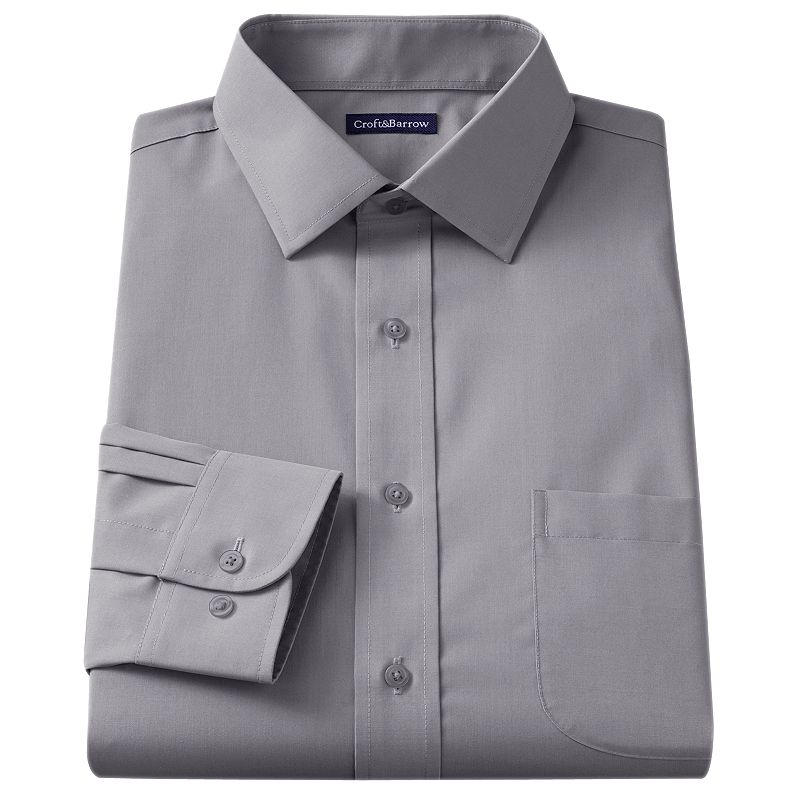 Men's Croft & Barrow® Slim-Fit Broadcloth Spread-Collar Dress Shirt