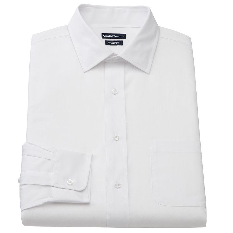Men's Croft & Barrow® Slim-Fit Broadcloth Spread-Collar Dress Shirt