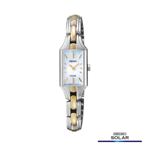 Seiko Two Tone Mother-of-Pearl Solar Watch - SUP164 - Women