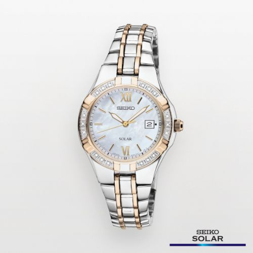 Seiko Watch - Women's Solar Two Tone Stainless Steel - SUT068