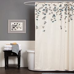 Lush Decor Flower Drop Fabric Shower Curtain by