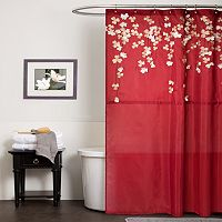 Lush Decor Flower Drop Fabric Shower Curtain