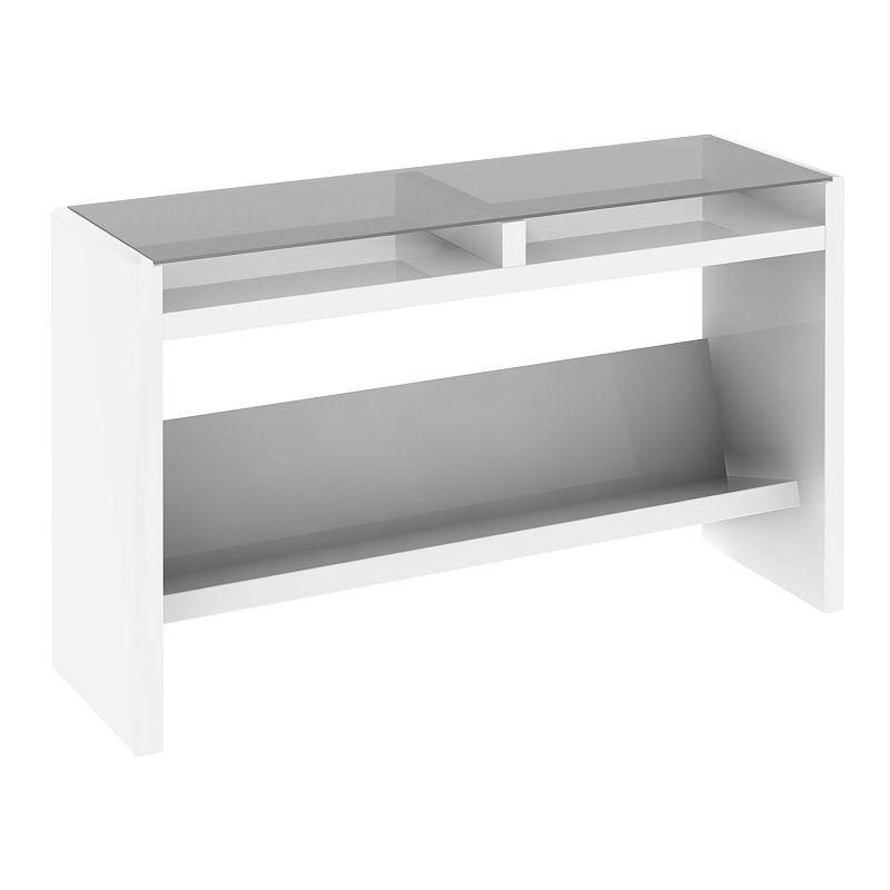 kathy ireland Office by Bush Furniture New York Skyline Laptop Sofa Table