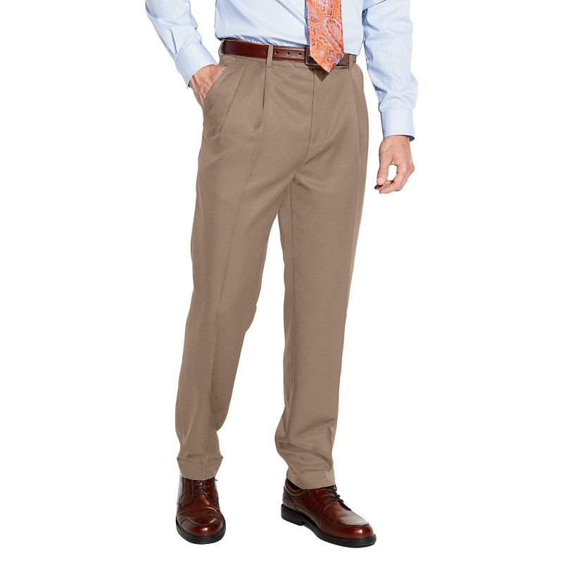 Men's Croft & Barrow® Classic-Fit Pleated No Iron Microfiber Dress Pants