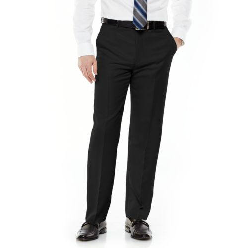 Men's Croft & Barrow® Classic-Fit Flat-Front No Iron Microfiber Dress Pants