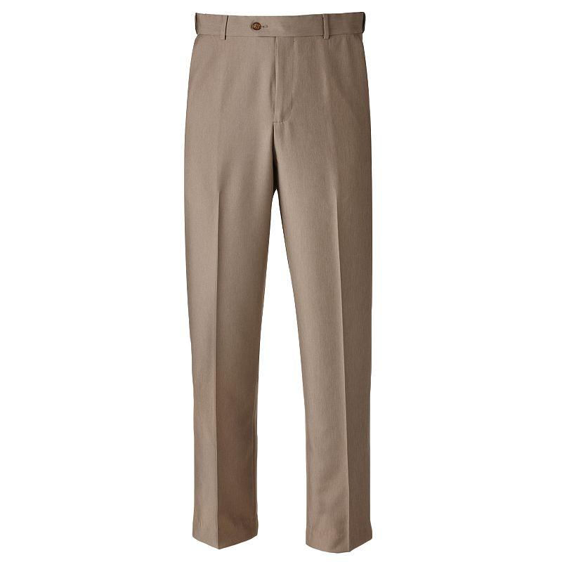 Men's Croft & Barrow® Classic-Fit Flat-Front No Iron Microfiber Dress Pants