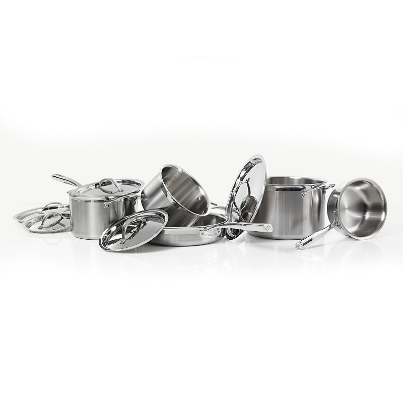 Cat Cora by Starfrit 10-pc. Tri-Ply Stainless Steel Cookware Set