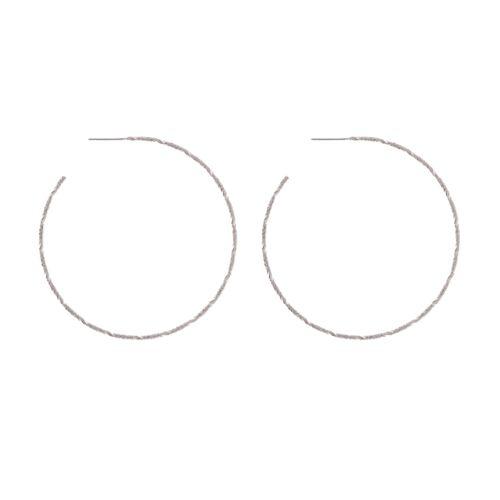 Candie's® Laser-Cut Hoop Earrings - Silver Tone
