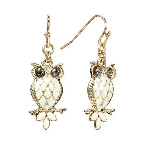 LC Lauren Conrad Owl Drop Earrings