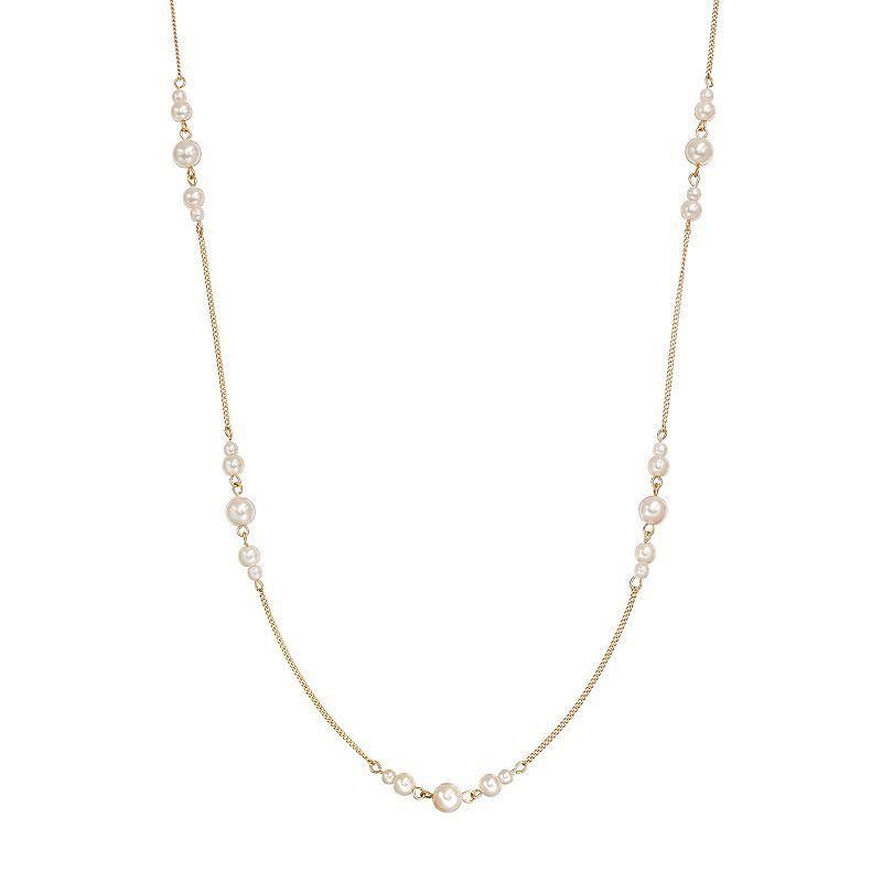 Long sophisticated necklace kohl 39 s for Kohls jewelry mens rings