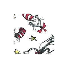 Dr. Seuss's The Cat in the Hat Crib Sheet by Trend Lab by