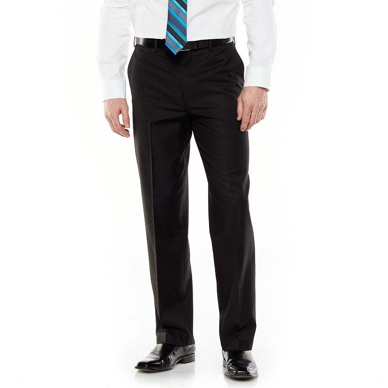Men's Croft & Barrow® Classic-Fit Wrinkle-Resistant Flat-Front Comfort Dress Pants