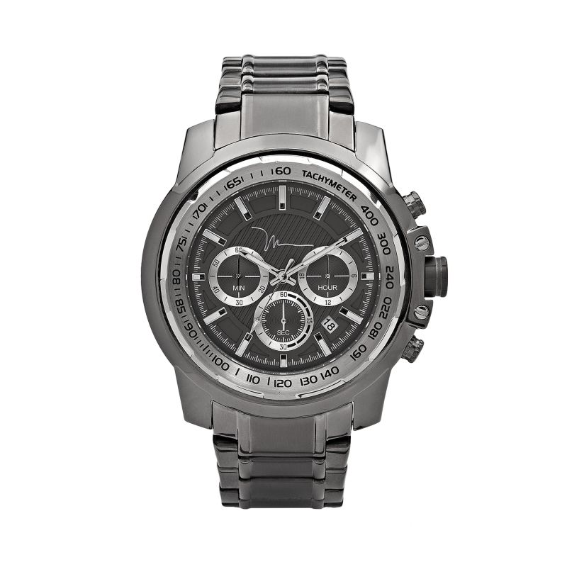 marc anthony gunmetal stainless steel chronograph