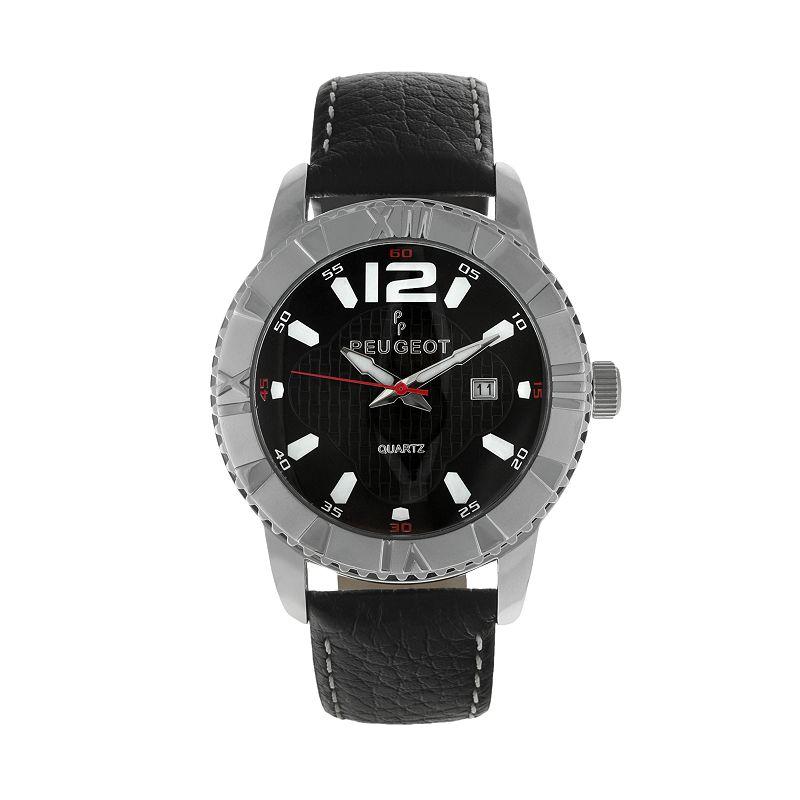 Peugeot Men's Leather Watch - 2037S