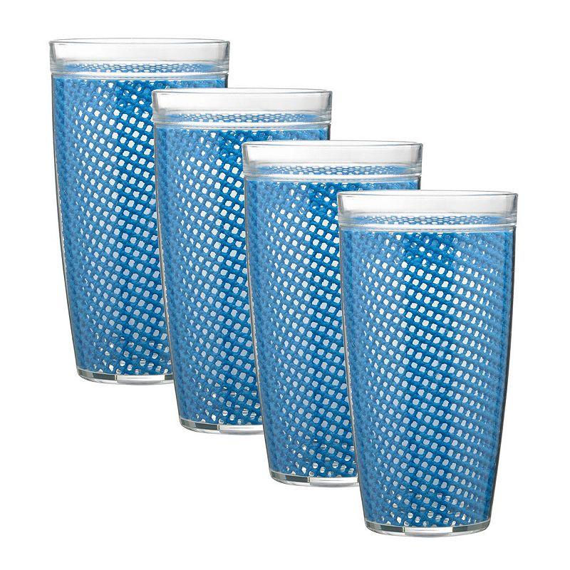 Kraftware Fishnet 4-pc. Double Wall Drinkware Set