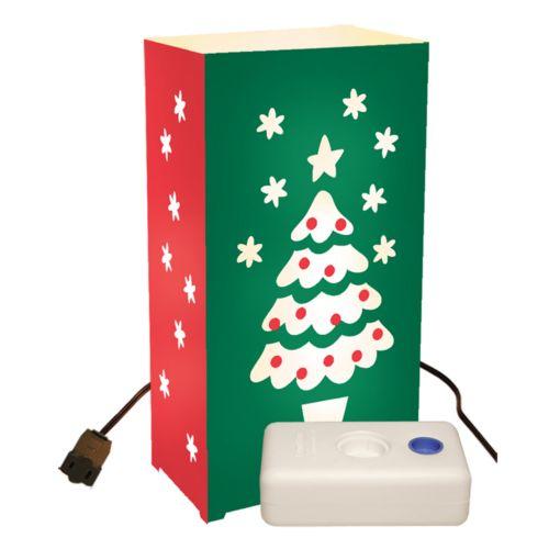 LumaBase 10-pk. Christmas Tree Electric Luminarias with Lumabases